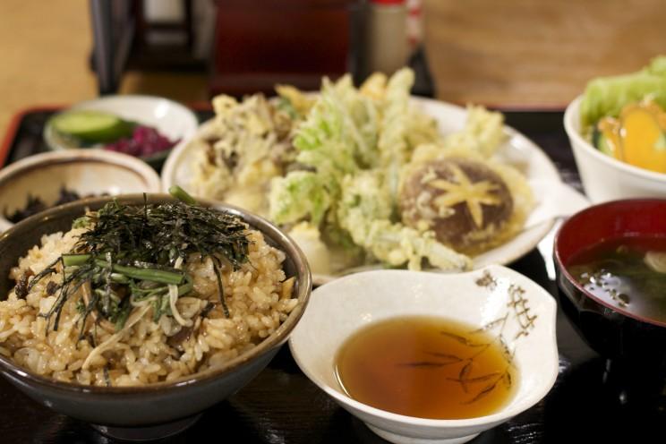 舞茸天ぷら定食